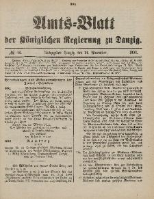 Amts-Blatt der Königlichen Regierung zu Danzig, 14. November 1903, Nr. 46