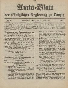 Amts-Blatt der Königlichen Regierung zu Danzig, 21. November 1903, Nr. 47