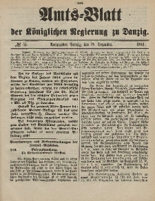 Amts-Blatt der Königlichen Regierung zu Danzig, 19. Dezember 1903, Nr. 51