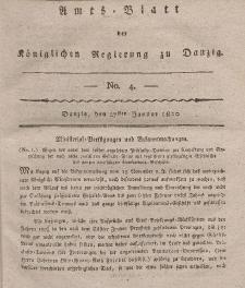 Amts-Blatt der Königlichen Regierung zu Danzig, 27. Januar 1820, Nr. 4