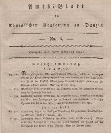 Amts-Blatt der Königlichen Regierung zu Danzig, 10. Februar 1820, Nr. 6