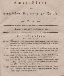 Amts-Blatt der Königlichen Regierung zu Danzig, 17. Februar 1820, Nr. 7