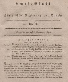 Amts-Blatt der Königlichen Regierung zu Danzig, 24. Februar 1820, Nr. 8