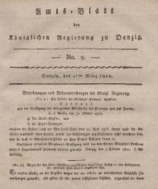 Amts-Blatt der Königlichen Regierung zu Danzig, 2. März 1820, Nr. 9