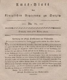 Amts-Blatt der Königlichen Regierung zu Danzig, 9. März 1820, Nr. 10