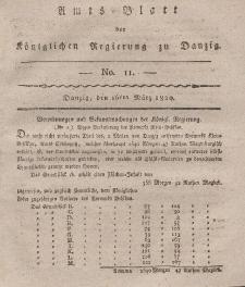 Amts-Blatt der Königlichen Regierung zu Danzig, 16. März 1820, Nr. 11