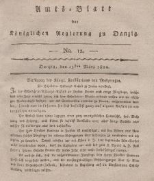 Amts-Blatt der Königlichen Regierung zu Danzig, 23. März 1820, Nr. 12