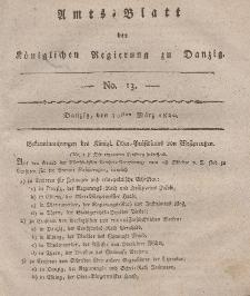 Amts-Blatt der Königlichen Regierung zu Danzig, 30. März 1820, Nr. 13