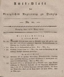 Amts-Blatt der Königlichen Regierung zu Danzig, 18. Mai 1820, Nr. 20