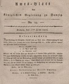 Amts-Blatt der Königlichen Regierung zu Danzig, 8. Juni 1820, Nr. 23