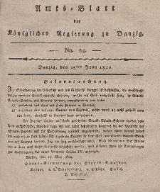 Amts-Blatt der Königlichen Regierung zu Danzig, 15. Juni 1820, Nr. 24