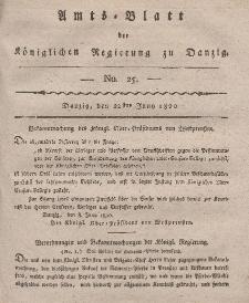 Amts-Blatt der Königlichen Regierung zu Danzig, 22. Juni 1820, Nr. 25