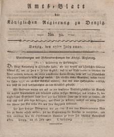 Amts-Blatt der Königlichen Regierung zu Danzig, 27. Juli 1820, Nr. 30