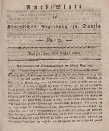 Amts-Blatt der Königlichen Regierung zu Danzig, 10. August 1820, Nr. 32