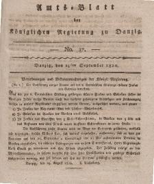 Amts-Blatt der Königlichen Regierung zu Danzig, 14. September 1820, Nr. 37