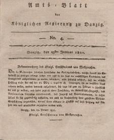 Amts-Blatt der Königlichen Regierung zu Danzig, 25. Januar 1821, Nr. 4