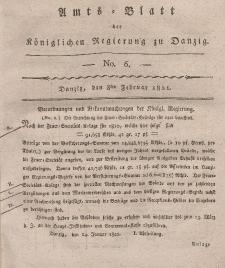 Amts-Blatt der Königlichen Regierung zu Danzig, 8. Februar 1821, Nr. 6