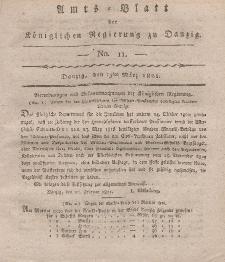 Amts-Blatt der Königlichen Regierung zu Danzig, 15. März 1821, Nr. 11