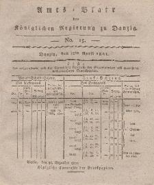 Amts-Blatt der Königlichen Regierung zu Danzig, 12. April 1821, Nr. 15
