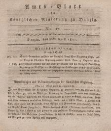 Amts-Blatt der Königlichen Regierung zu Danzig, 26. April 1821, Nr. 17