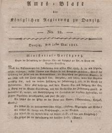 Amts-Blatt der Königlichen Regierung zu Danzig, 31. Mai 1821, Nr. 22