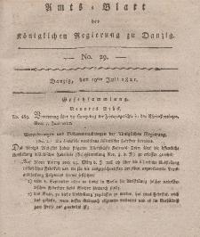 Amts-Blatt der Königlichen Regierung zu Danzig, 19. Juli 1821, Nr. 29