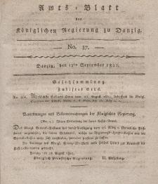 Amts-Blatt der Königlichen Regierung zu Danzig, 13. September 1821, Nr. 37