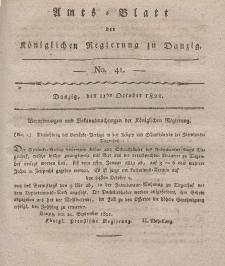 Amts-Blatt der Königlichen Regierung zu Danzig, 11. Oktober 1821, Nr. 41