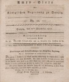 Amts-Blatt der Königlichen Regierung zu Danzig, 27. Dezember 1821, Nr. 52