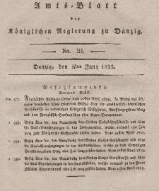 Amts-Blatt der Königlichen Regierung zu Danzig, 15. Juni 1825, Nr. 24