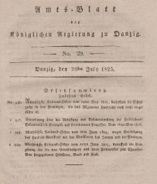 Amts-Blatt der Königlichen Regierung zu Danzig, 20. Juli 1825, Nr. 29