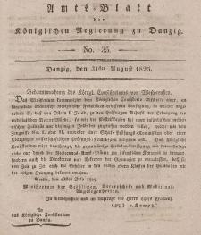 Amts-Blatt der Königlichen Regierung zu Danzig, 31. August 1825, Nr. 35