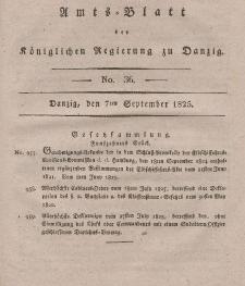 Amts-Blatt der Königlichen Regierung zu Danzig, 7. September 1825, Nr. 36