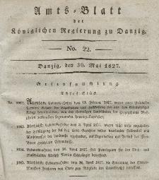 Amts-Blatt der Königlichen Regierung zu Danzig, 30. Mai 1827, Nr. 22