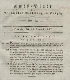 Amts-Blatt der Königlichen Regierung zu Danzig, 29. August 1827, Nr. 35