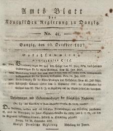 Amts-Blatt der Königlichen Regierung zu Danzig, 10. Oktober 1827, Nr. 41