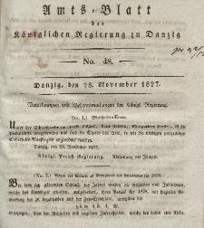 Amts-Blatt der Königlichen Regierung zu Danzig, 28. November 1827, Nr. 48