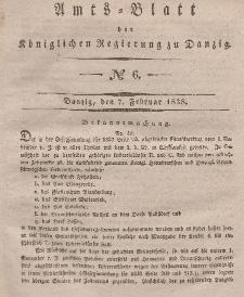 Amts-Blatt der Königlichen Regierung zu Danzig, 7. Februar 1838, Nr. 6