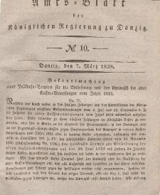 Amts-Blatt der Königlichen Regierung zu Danzig, 7. März 1838, Nr. 10