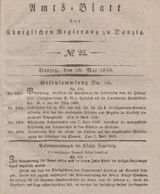 Amts-Blatt der Königlichen Regierung zu Danzig, 30. Mai 1838, Nr. 22