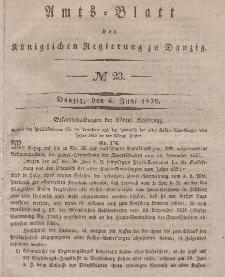 Amts-Blatt der Königlichen Regierung zu Danzig, 6. Juni 1838, Nr. 23