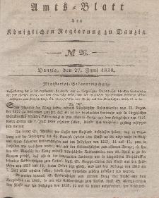 Amts-Blatt der Königlichen Regierung zu Danzig, 27. Juni 1838, Nr. 26