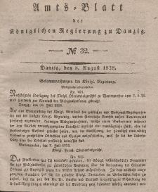 Amts-Blatt der Königlichen Regierung zu Danzig, 8. August 1838, Nr. 32