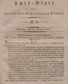 Amts-Blatt der Königlichen Regierung zu Danzig, 29. August 1838, Nr. 35