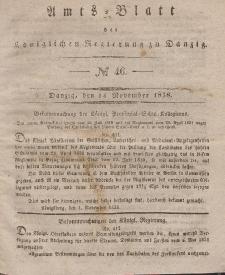 Amts-Blatt der Königlichen Regierung zu Danzig, 14. November 1838, Nr. 46