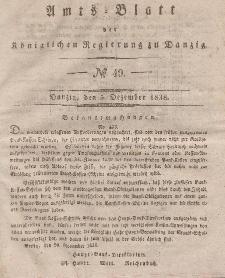 Amts-Blatt der Königlichen Regierung zu Danzig, 5. Dezember 1838, Nr. 49