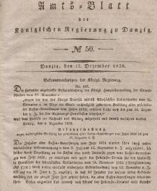 Amts-Blatt der Königlichen Regierung zu Danzig, 12. Dezember 1838, Nr. 50