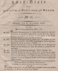 Amts-Blatt der Königlichen Regierung zu Danzig, 26. Dezember 1838, Nr. 52
