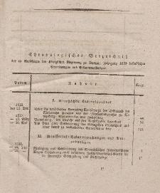 Amts-Blatt der Königlichen Regierung zu Danzig Jahrgang 1823 (Chronologisches Verzeichniß)