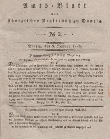 Amts-Blatt der Königlichen Regierung zu Danzig, 9. Januar 1839, Nr. 2